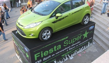 New Ford Fiesta participates in all most expected musical events of the year