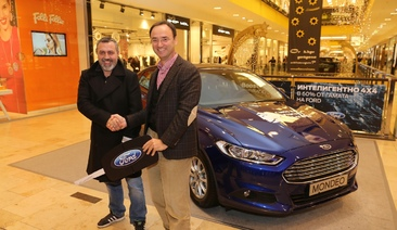 Hristo Mutafchiev received the keys for the new Ford Mondeo